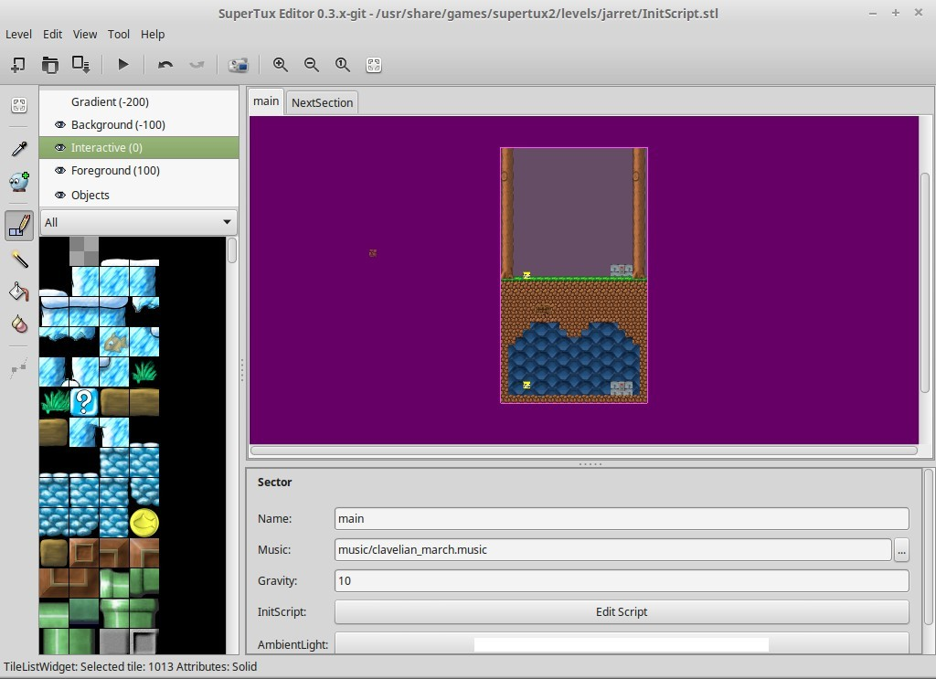 SuperTux2 Level Editor - InitScript and Sectors | DCJTech info