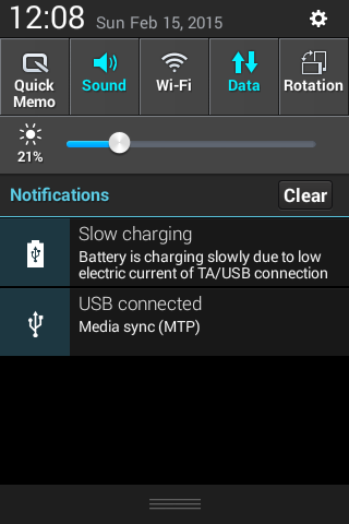 Android MTP Notification
