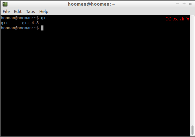 Check G++ in Terminal